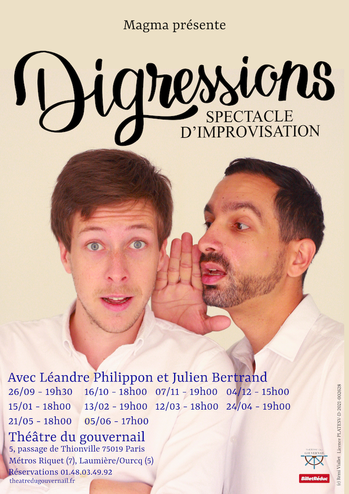 AFFICHE SPECTACLE DIGRESSIONS